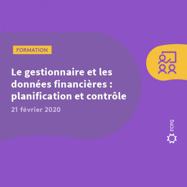 Le gestionnaire et les données financières: gestion, planification et contrôle