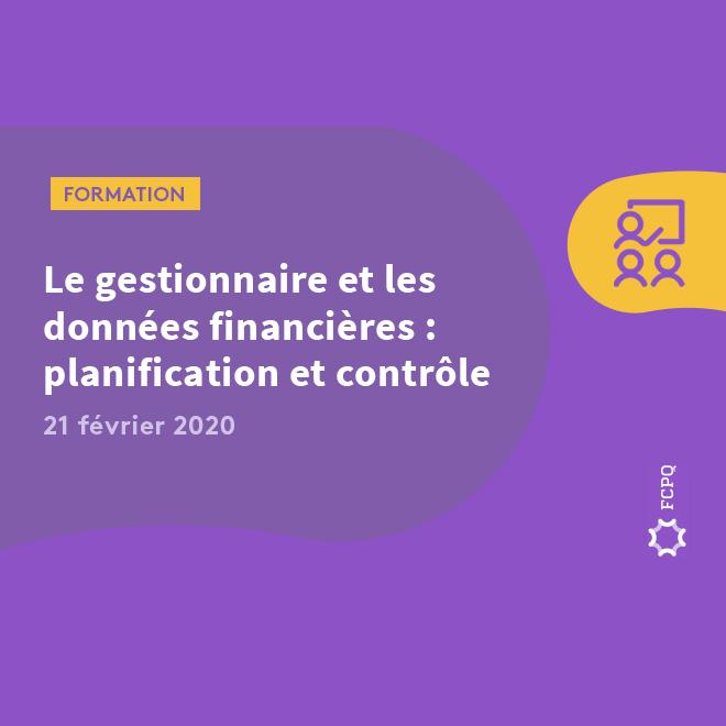 Le gestionnaire et les données financières: gestion, planification et contrôle | 21 février 2020, HEC Montréal